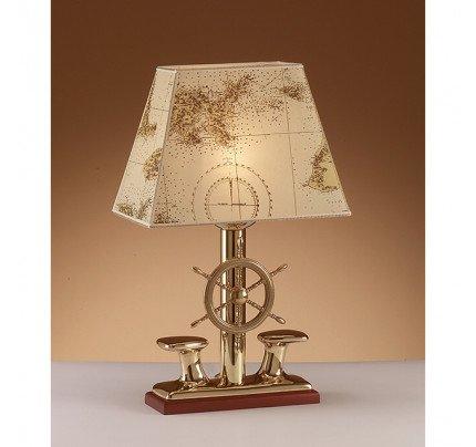 Foresti e Suardi-FS2210C.LPR-Lampada da tavolo in ottone giallo Lucido E27 Pergamena-20