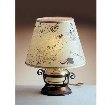 Foresti e Suardi-FS2209.LP-Lampada da tavolo in ottone giallo Lucido E27 Pergamena-20