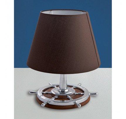 Foresti e Suardi-FS2281.CPM.TK-Lampada da tavolo in ottone argento Cromato E27 Marrone TEAK-20