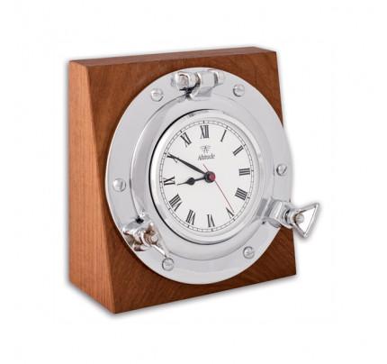 Foresti e Suardi-FS2067.C.TK-Oblò tondo con orologio su base quadra in ottone argento Cromato TEAK-20