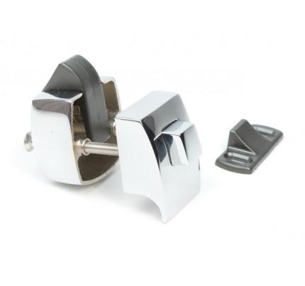 Foresti e Suardi-FS855.C-Pulsanti in ottone completi di serratura in ottone argento Cromato 23 mm-20