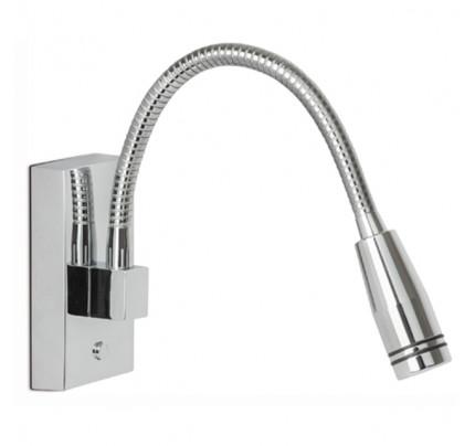 PERSEUS QO in ottone argento Cromato Power LED 1 .4000 °K Bianco