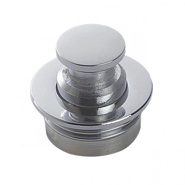 Foresti e Suardi-FS336.C-Pulsanti in ottone completi di serratura bianca in ottone argento Cromato 19 mm-30