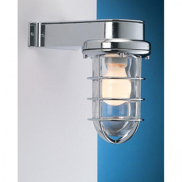 Foresti e Suardi-FS2430A.E27.CS-Lampada applique in ottone argento Cromato E27 S Sabbiato-30