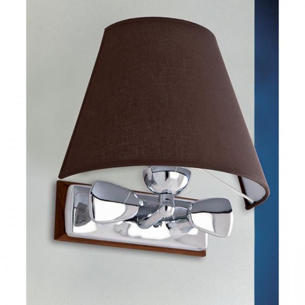 Foresti e Suardi-FS2231.CPM.TK-Lampada applique in ottone argento Cromato E27 Marrone TEAK-30