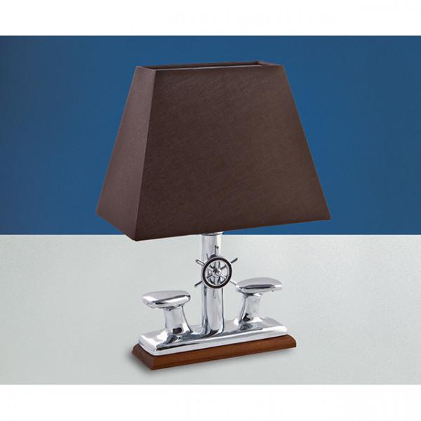 Foresti e Suardi-FS2210C.CPRM.TK-Lampada da tavolo in ottone argento Cromato E27 Marrone 320 x 530 x 200 mm TEAK-30