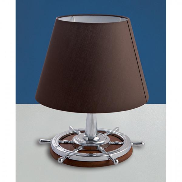 Foresti e Suardi-FS2281.CPM.TK-Lampada da tavolo in ottone argento Cromato E27 Marrone TEAK-30