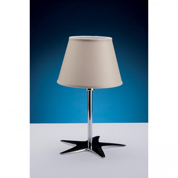 Foresti e Suardi-FS2330.CR-Lampada da tavolo in ottone argento Cromato E14 Rosso-30