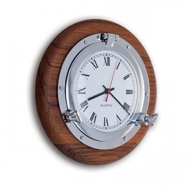 Foresti e Suardi-FS2084.C.TK-Oblò con orologio in ottone argento Cromato TEAK-30