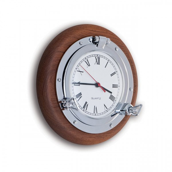 Foresti e Suardi-FS2085.C.TK-Oblò con orologio in ottone argento Cromato TEAK-30