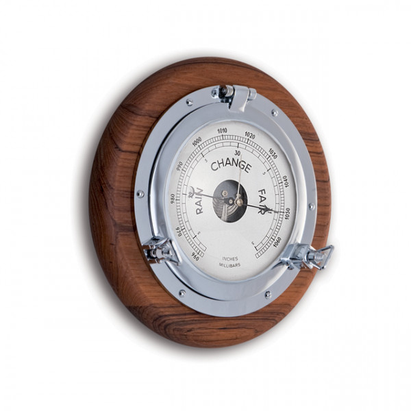 Foresti e Suardi-FS2088.C.TK-Oblò con barometro in ottone argento Cromato TEAK-30