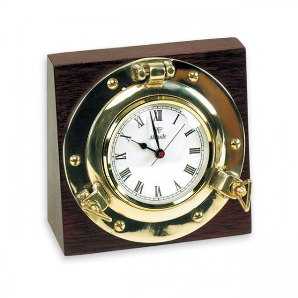 Foresti e Suardi-FS2067.L-Oblò tondo con orologio su base quadra in ottone giallo Lucido-30