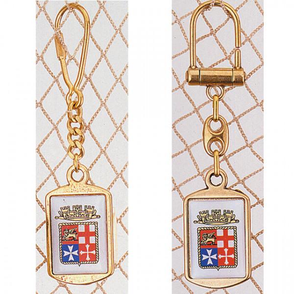 Foresti e Suardi-FS2181E.L-Portachiavi con serigrafia stemma in ottone giallo Lucido Con maglia marina-30
