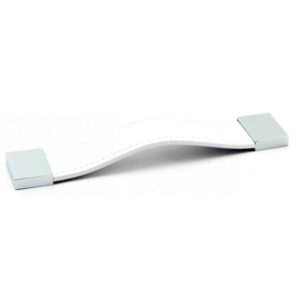 Foresti e Suardi-FS555.C.PB-Maniglia per mobili in ottone argento Cromato Pelle Bianca-30