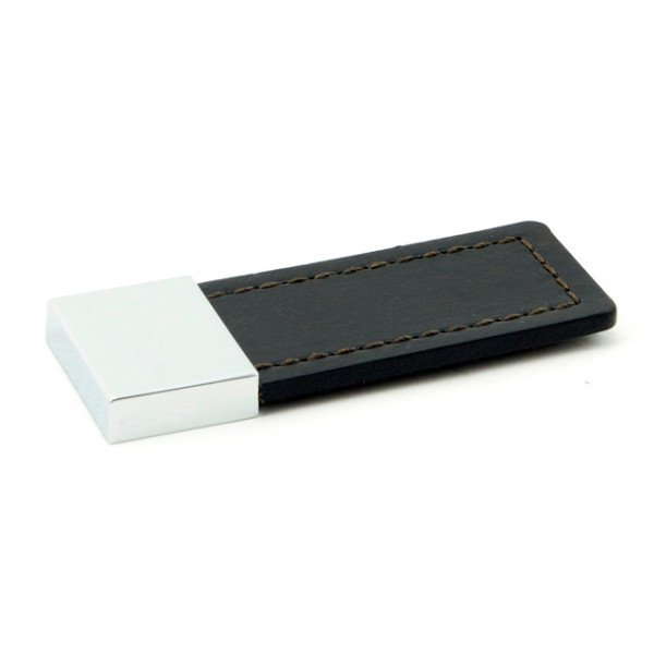 Foresti e Suardi-FS575.C.PC-Maniglia per mobili in ottone argento Cromato Pelle color Caffé-30