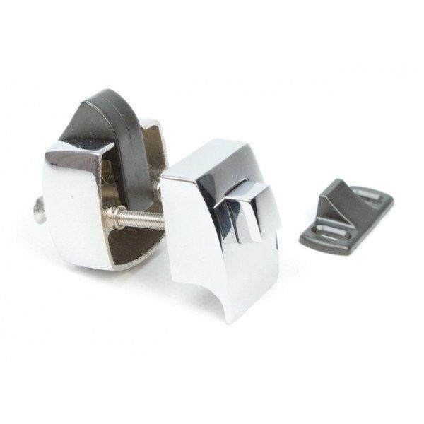 Foresti e Suardi-FS855.C-Pulsanti in ottone completi di serratura in ottone argento Cromato 23 mm-30