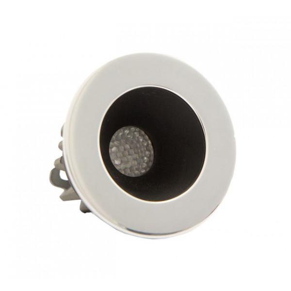Foresti e Suardi-FS5292.C.4000.9N-PLUTONE TP in ottone argento Cromato Power LED .4000 °K Bianco LED 10/30 Vdc-30