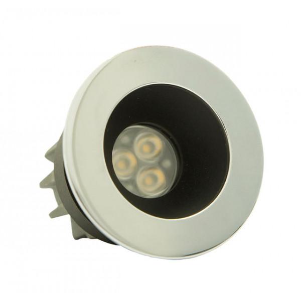 Foresti e Suardi-FS5291.C.3200.9EL-PLUTONE TM in ottone argento Cromato Power LED .3200 °K Bianco LED 10/30 Vdc-30