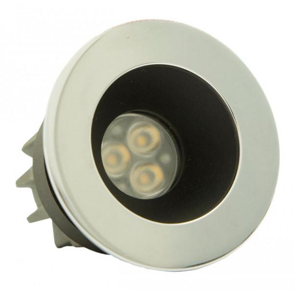 Foresti e Suardi-FS5290.C.3200.9N-PLUTONE TG in ottone argento Cromato Power LED .3200 °K Bianco LED 10/30 Vdc-30