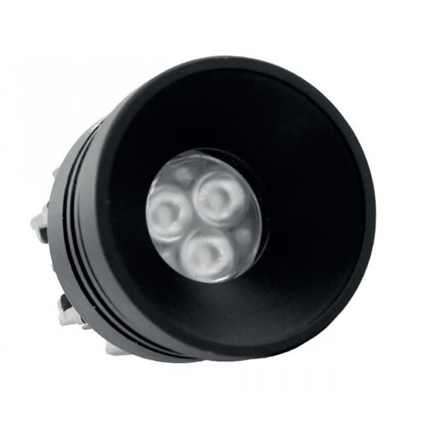 Foresti e Suardi-FS5293.VN.2700.9-PLUTONE TRG Verniciato Nero Power LED .2700 °K Bianco LED 10/30 Vdc-30
