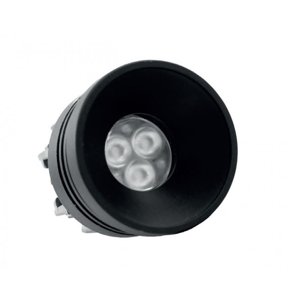 Foresti e Suardi-FS5294.VN.3200.9-PLUTONE TRM Verniciato Nero Power LED .3200 °K Bianco LED 10/30 Vdc-30
