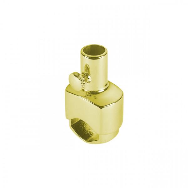 Foresti e Suardi-FS191B.L-Supporto in ottone per asta in ottone giallo Lucido Ø 20 mm-30